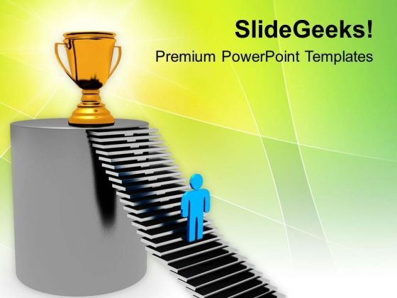 Move Towards The Goal Financial PowerPoint Templates Ppt Backgrounds For Slides 0413