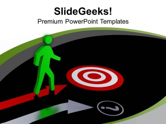Move Towards The Target Of Business PowerPoint Templates Ppt Backgrounds For Slides 0713