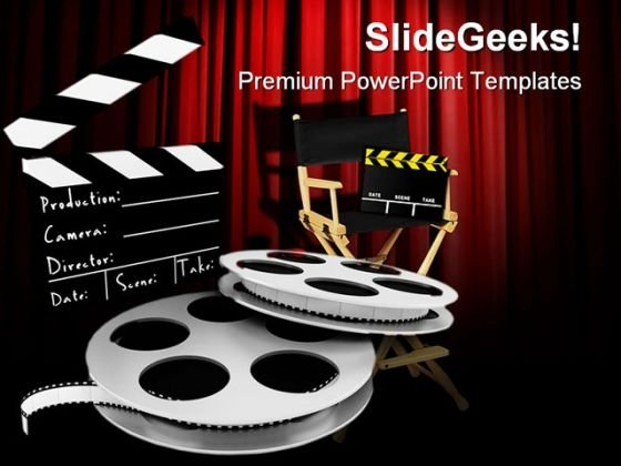 Movies Director Entertainment PowerPoint Templates And PowerPoint Backgrounds 0311