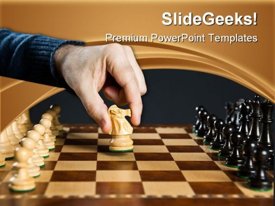 Moving Knight On Chess Game PowerPoint Templates And PowerPoint Backgrounds 0211