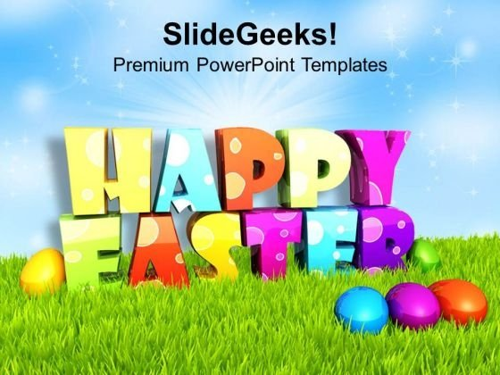 Multi Color Design For Happy Easter Wishes PowerPoint Templates Ppt Backgrounds For Slides 0313