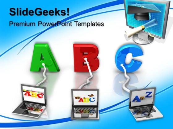 Multiple Wired To Abc Education PowerPoint Templates And PowerPoint Themes 0612