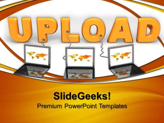 Multiple Wired To Upload Internet PowerPoint Templates And PowerPoint Themes 0612