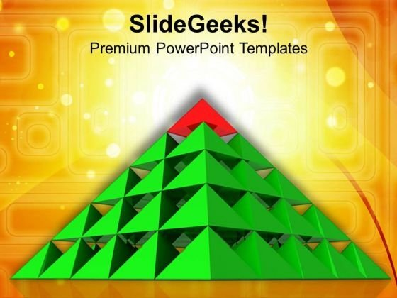 Multistaged Pyramid For Dependent Process PowerPoint Templates Ppt Backgrounds For Slides 0413