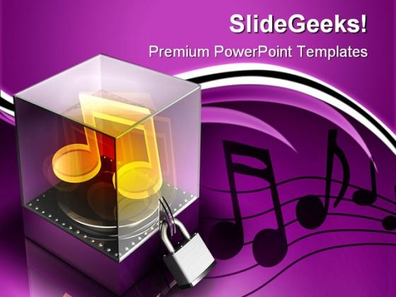 Music Security PowerPoint Themes And PowerPoint Slides 0711