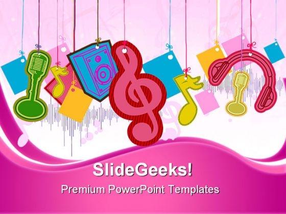 Music Symbol PowerPoint Themes And PowerPoint Slides 0411