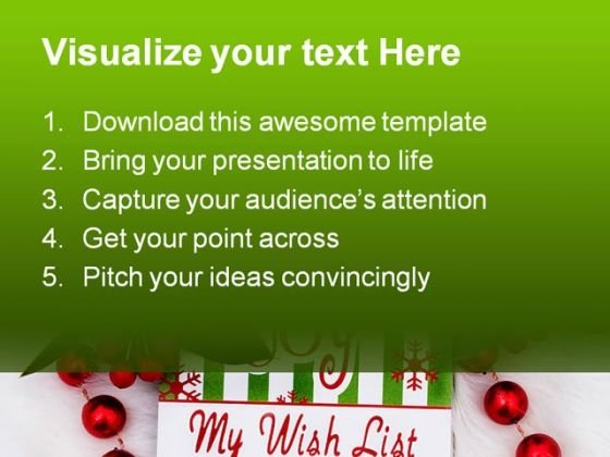 my wish list christmas powerpoint backgrounds and templates 0111, Modern powerpoint