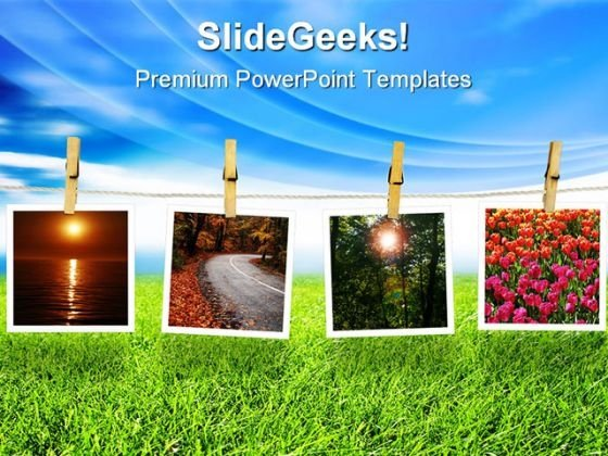 Natural Polaroid Environment PowerPoint Templates And PowerPoint Backgrounds 0511