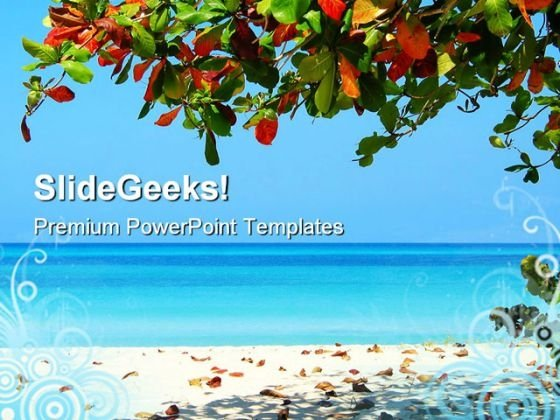 Negrils Beach PowerPoint Themes And PowerPoint Slides 0511