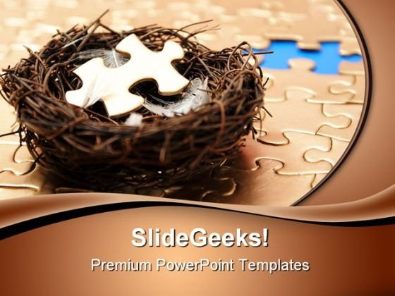 Nesting The Missing Piece Business PowerPoint Themes And PowerPoint Slides 0411