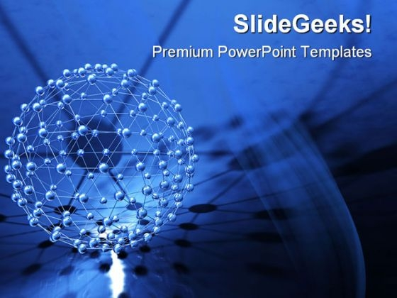 Network Abstract PowerPoint Themes And PowerPoint Slides 0411