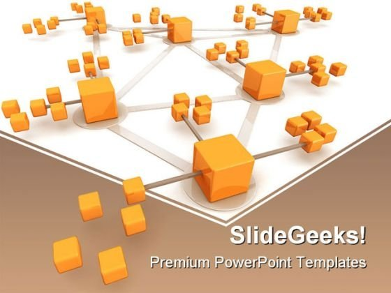 Network Concept Business PowerPoint Themes And PowerPoint Slides 0511