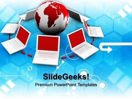 Network Concept Global PowerPoint Templates And PowerPoint Themes 0912