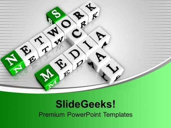 Network Media Social Issues Interrelated Terms PowerPoint Templates Ppt Backgrounds For Slides 1212