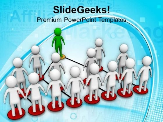 Network Of A Good Business Team PowerPoint Templates Ppt Backgrounds For Slides 0813