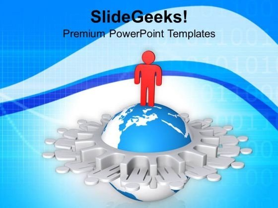 Network Of Global Leader Business Concept PowerPoint Templates Ppt Backgrounds For Slides 0813