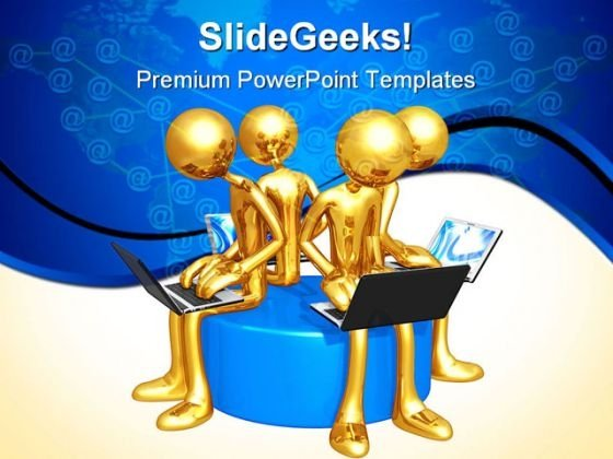 Network Workgroup Internet PowerPoint Themes And PowerPoint Slides 0511