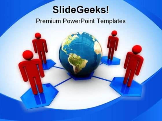 Networking01 Internet PowerPoint Template 0810