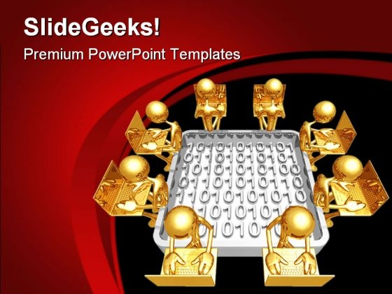 Networking Business PowerPoint Templates And PowerPoint Backgrounds 0611