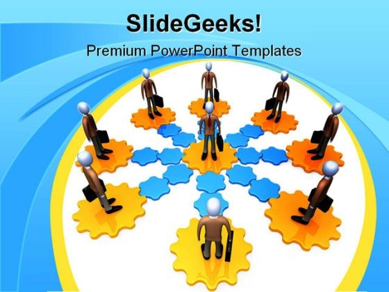 Networking Global Business PowerPoint Themes And PowerPoint Slides 0511
