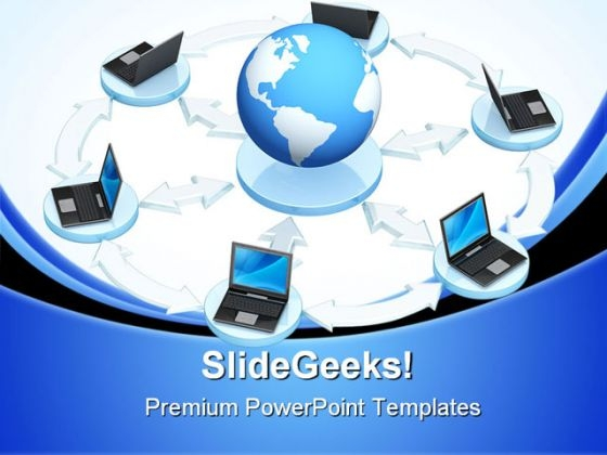 Networking Global PowerPoint Themes And PowerPoint Slides 0711