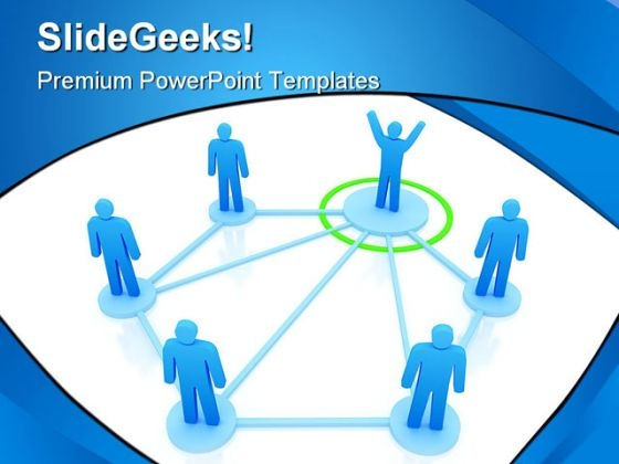 Networking Leadership PowerPoint Themes And PowerPoint Slides 0511