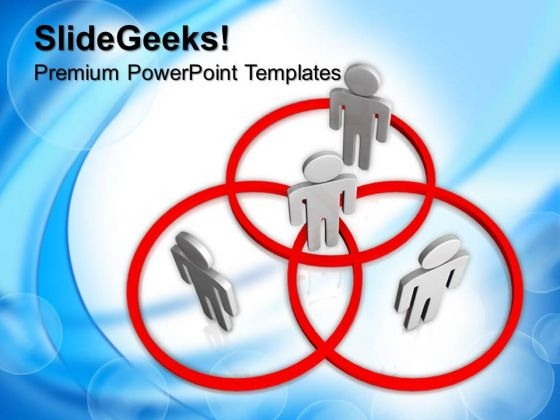 Networking People In Venn Diagram PowerPoint Templates And PowerPoint Themes 0912