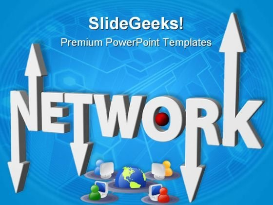 Networking Through Computer Global PowerPoint Templates And PowerPoint Backgrounds 0611