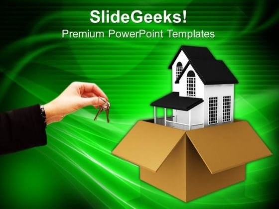 New House For Gift Concept PowerPoint Templates And PowerPoint Themes 0912