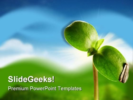 New Life Nature PowerPoint Template 0810