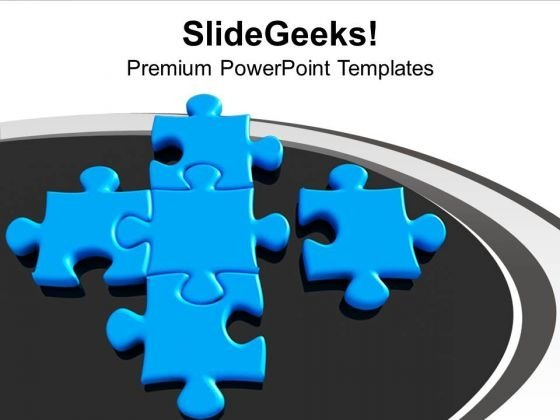 New Puzzles Joins Team To Form Teamwork PowerPoint Templates Ppt Backgrounds For Slides 0213