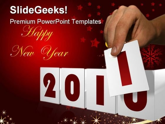 New Year03 Celebration PowerPoint Template 1010