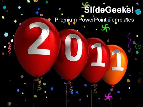 New Year 2011 Festival PowerPoint Template 1010