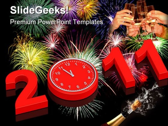 New Year 2011 Holidays PowerPoint Templates And PowerPoint Backgrounds 0211