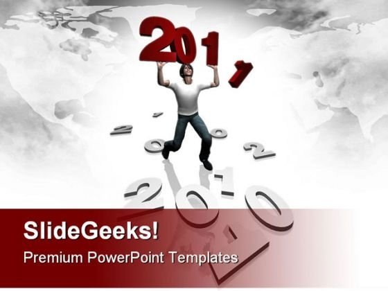 New Year 2011 People Festival PowerPoint Backgrounds And Templates 0111