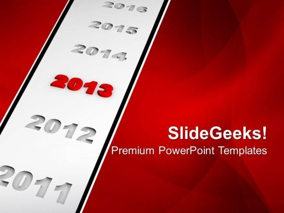 new year 2013 and years ahead future powerpoint templates ppt