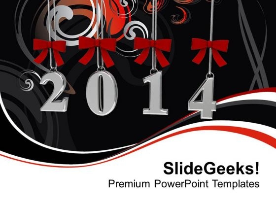 New Year 2014 Business PowerPoint Template 1113