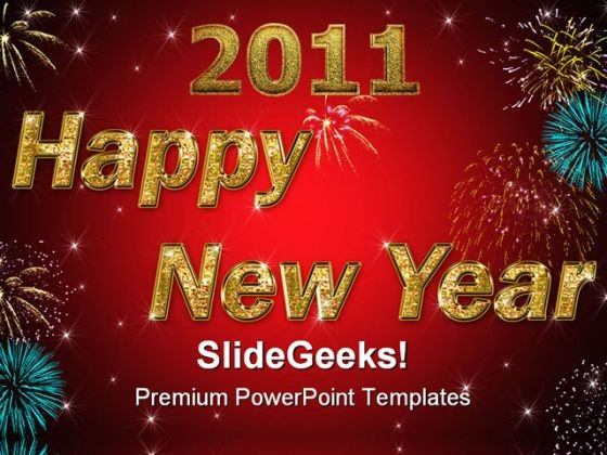 New Year Abstract PowerPoint Templates And PowerPoint Backgrounds 0711
