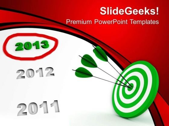 New Year Ahead Target Business PowerPoint Templates Ppt Backgrounds For Slides 1112