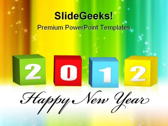 New Year Blocks Shapes PowerPoint Templates And PowerPoint Backgrounds 1011