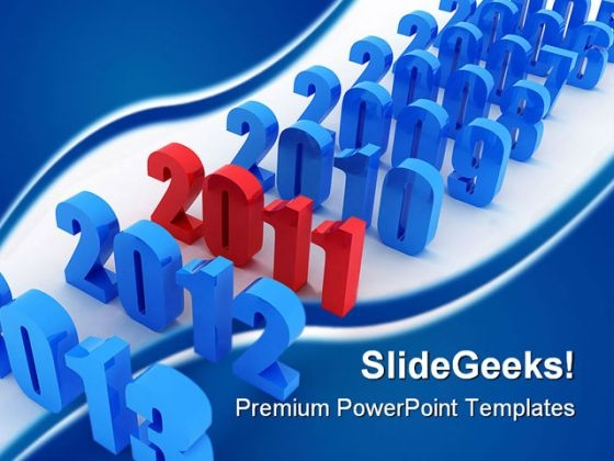 New Year Business PowerPoint Templates And PowerPoint Backgrounds 0411