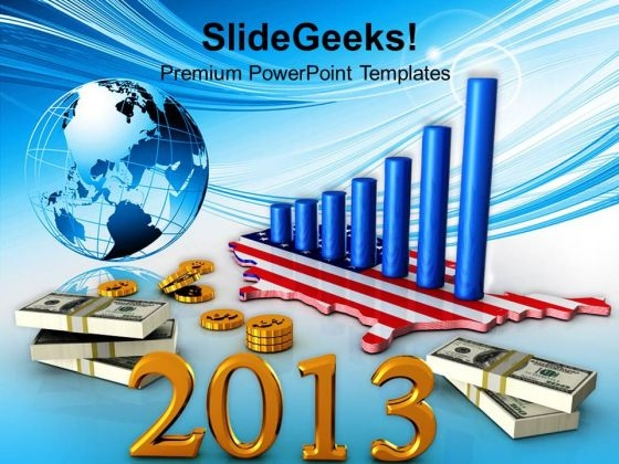 New Year Business Profits Globe Americana PowerPoint Templates Ppt Backgrounds For Slides 1112