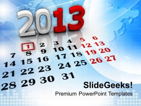 New Year Calendar Holidays PowerPoint Templates Ppt Background For Slides 1112
