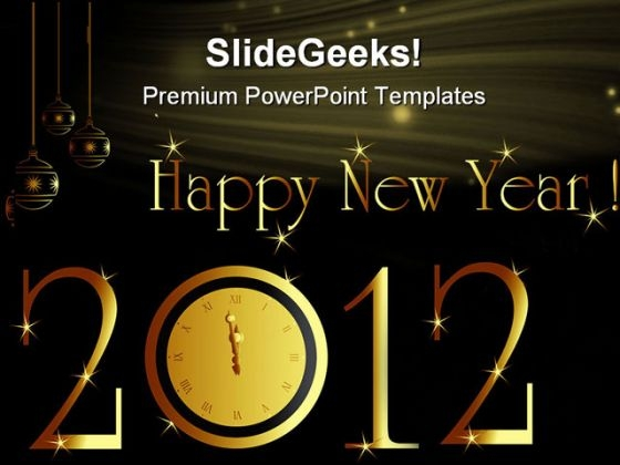 New Year Card Background Powerpoint Templates And Powerpoint