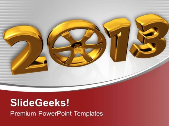 New Year Celebration For 2013 PowerPoint Templates Ppt Backgrounds For Slides 0413