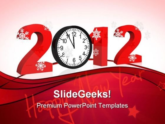 New Year Clock Abstract PowerPoint Templates And PowerPoint Backgrounds 1011