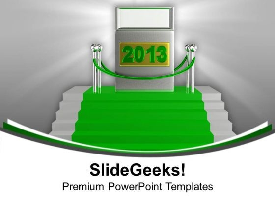 New Year On A Green Carpet Future PowerPoint Templates Ppt Backgrounds For Slides 0113