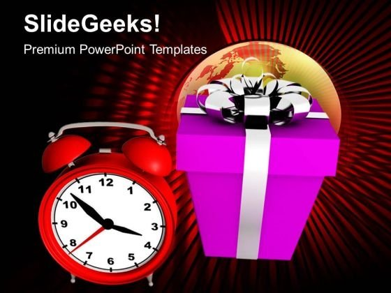 New Year Presents With Clock Business PowerPoint Templates Ppt Background For Slides 1112