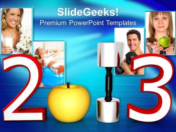 New Year Resolutions Health Concept PowerPoint Templates Ppt Backgrounds For Slides 1212