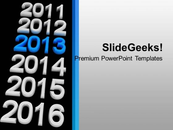 New Year Vacation 2013 Holidays Celebration PowerPoint Templates Ppt Backgrounds For Slides 0113